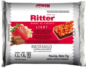 Barra de Cereal Light de Morango com Chocolate - 3un