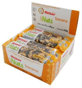Barra Nuts Banana - Display com 12 un