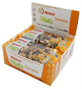 Barra Nuts Banana - Display com 12 un