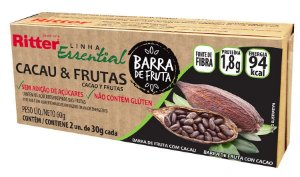 BARRA DE FRUTA CACAU E FRUTAS - 2 UNIDADES DE 30g CADA