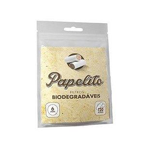 Filtro para Cigarro Papelito  Biodegradável 6mm Pct 120 Und