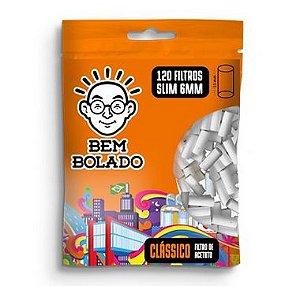 Filtro para Cigarro Bem Bolado Classico 6mm - Pct 120 Und