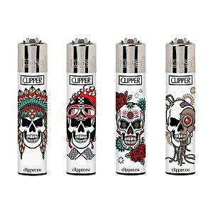 Isqueiro Clipper Maxi Collection Skull - Unidade