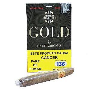 Charuto Alonso Menendez Gold Half Corona Petaca 5 Unidade