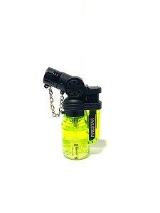 Isqueiro Maçarico Firestar 1 Chama - Verde Limão
