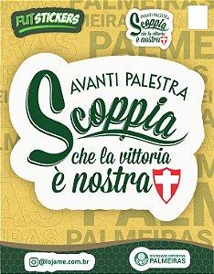 Cartela de 2 adesivos de frases do Palmeiras