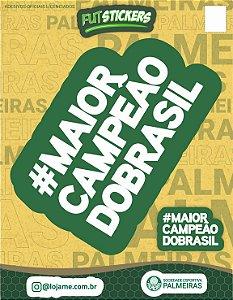 Cartela de 2 adesivos do Maior campeão do Brasil - Palmeiras