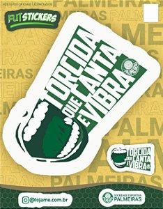 Cartela de 2 adesivos torcida que canta e vibra - Palmeiras