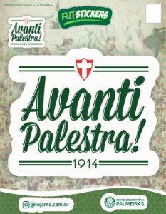 Cartela de 2 adesivos Avanti Palestra - Palmeiras