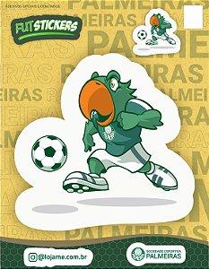 Cartela de adesivos 2 mascote Periquito - Palmeiras