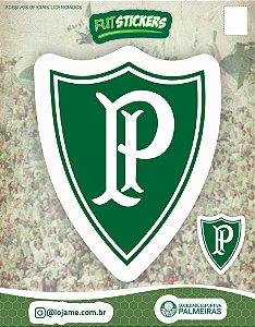 Cartela de 2 adesivos antigos do Palmeiras