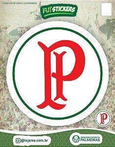 Cartela de 2 adesivos escudo retrô Palestra Itália - Palmeiras