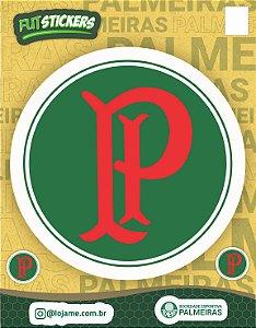 Cartela de 3 adesivos do escudo Palestra Itália - Palmeiras