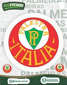 Cartela de 3 adesivos retrô Palestra Itália - Palmeiras