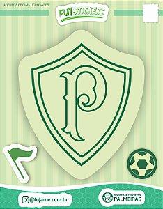 Cartela de 3 adesivos retrô - Palmeiras