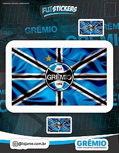 Cartela de 3 adesivos da bandeira do Grêmio