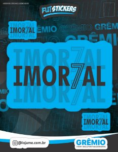 Cartela de 3 adesivos do IMORTAL - Grêmio