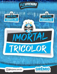 Cartela de 3 adesivos do IMORTAL TRICOLOR - Grêmio