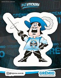Cartela de 1 adesivo do mosqueteiro - Mascote do Grêmio