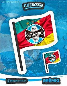 Cartela de 2 adesivos da bandeira do RS/Grêmio