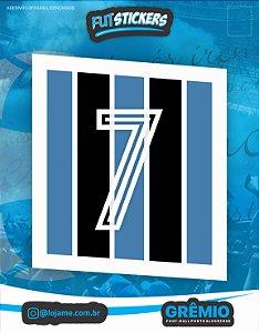 """Cartela de 1 adesivo do """"ETERNA CAMISA 7"""" do Grêmio"""
