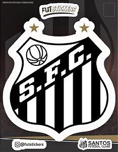 Cartela de adesivo do escudo do Santos