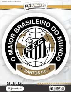 "Cartela de adesivo do ""O MAIOR BRASILEIRO DO MUNDO"" - SANTOS"