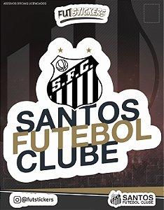 "Cartela de adesivo "" SANTOS FUTEBOL CLUBE"""