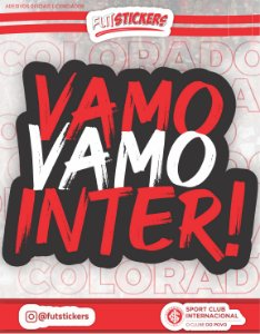 "Cartela de adesivo ""VAMO VAMO INTER"" - INTERNACIONAL"