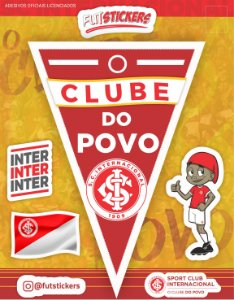 Cartela de 4 adesivos diversos do INTERNACIONAL
