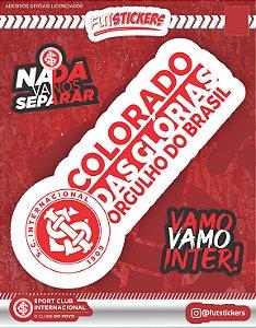 """Cartela de 3 adesivos """"COLORADO DAS GLÓRIAS, ORGULHO DO BRASIL"""" - INTERNACIONAL"""