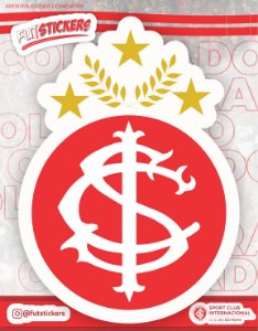 Cartela de 1 adesivo do escudo do retrô do INTERNACIONAL