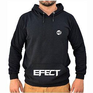 Moletom Preto Logo Bolso EFECT