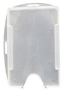 Porta crachá conjugado simples vertical/horizontal com furo externo
