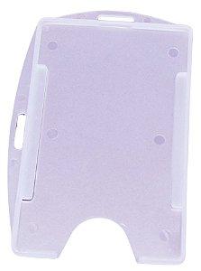 Porta crachá conjugado duplo vertical/horizontal com furo externo