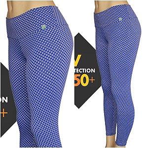 Legging 3D Proteção UVA+UVB 50 AZUL
