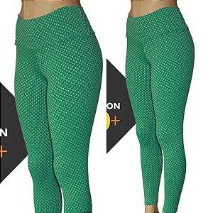 Legging 3D Proteção UVA+UVB 50 VERDE