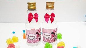 Mini garrafa  personalizada + laço de cetim - Plástico