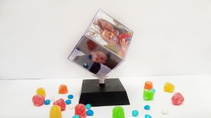 Foto-cubo giratório 8,5x8,5 cm