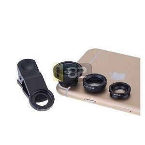 Kit 3 lentes universal - olho de peixe