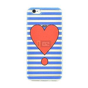 Capinha iPhone 6 e 6S coração emotions