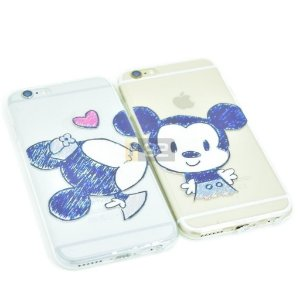 Capinha Mickey e Minnie iPhone 6 e 6S