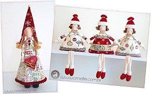 Combo Projetos Anjinha Joy e Bonequinha de Natal