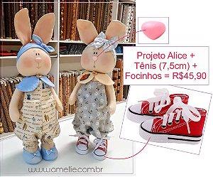Kit Boneca e Coelha Alice