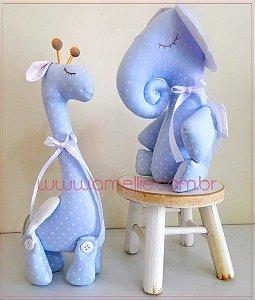 Kit Projetos Elefantinho e Girafinha Baby