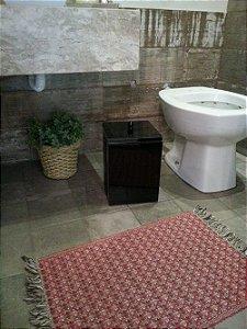 Lixeira Vidro Preto Para Banheiro TP Sobrepor