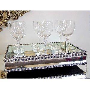 Bandeja Espelhada Decorativa Para Bar/ Sala Com Chaton