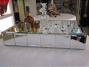 Bandeja Espelhada Bisotada Grande / Bar 60x40x10