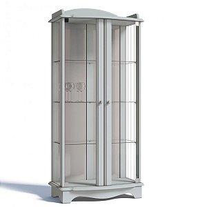 Cristaleira Moderna Charme - 2 Porta -  Branco
