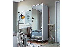 Sapateira Prada Espelho Branco Acetinado